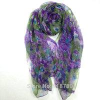 100% pure silk  Scarf , Free Shipping! 105cm*185cm   purple scarves
