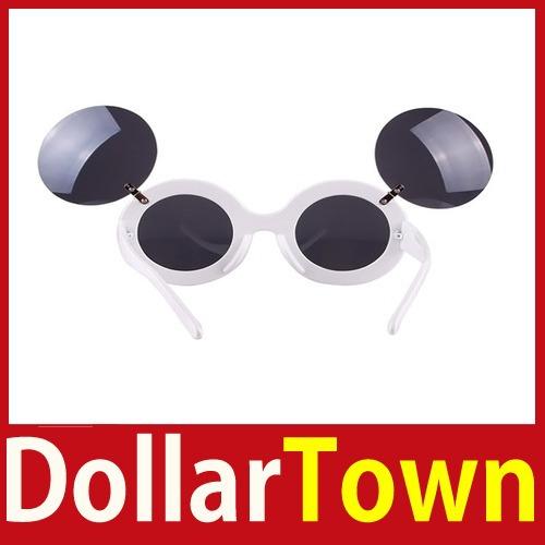 De compra rapidamente dollartown rato Lady grosso rodada Flip Up Paparazzi óculos de sol óculos Shades economize até 50% melhor(China (Mainland))