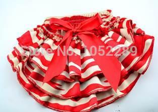 baby Red and white Ruffle Bloomers girls Diaper cover Toddler Summer Satin shorts children shorts newborn Bloomers(China (Mainland))
