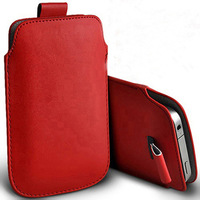 2014 new  1pcs bulk novelty PU Leather Pouch Case Bag for oneplus one Cover with Pull Out Function phone cases