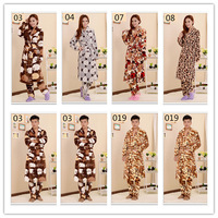 Free Shipping Brand Flannel Pajamas Sets Kimono Robe Set Bethrobe Nightgown Housecoat Home Clothes For Women Man A0239