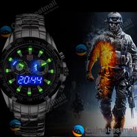 2014 TVG Sports City Hunter Led Pointer Quartz Wristwatch Men Fashion Waterproof Dual Time man Military Watches with Luminous