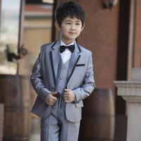 Male child formal dress quality 2014 children's clothing child slim suits blazer 6 piece set for wedding boys classics