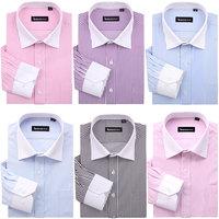 2014 Men's brand shirt Mens long sleeve dress shirt men Classic easy care business Formal shirts for men 9 color Big size XXXXXL