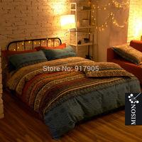 Fashion Bohemian Comforter Bedding Sets,Luxury Boho Bedding Set, Home Textile,Twin/Full/Queen Size Duvet Cover Set,Bed Sheet Set