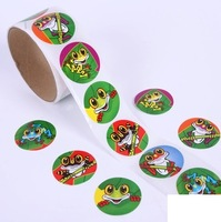 Frogs Animals Stickers Labels 4x100pcs 6 assorted designs Presents confetti