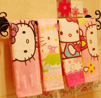 2pcs/set Cute Hello Kitty Towel Cartoon Face Towel For Children Girls Free Ship