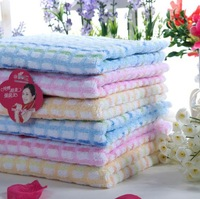 China No.1 High Quality Home Plaid Strong Absorbent Colorful Stripe Comfortable Cotton Face Towel Red/Blue/Green/Brown