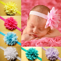 12pcs/lot 2014 new chiffon flower soft headband children accessories