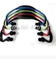 Portable Wireless In Ear Headphone Earphones Headset Handsfree Sport mp3 Player Surpport SD/TF Card