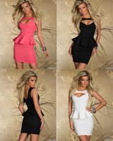 New Sexy Women Dresses cocktail party Falbala clubwear night dress Teddy Hollow Clothing
