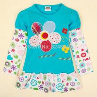 Frozen Girl T Shirt Baby girl t shirt NOVA brand 100% Cotton kids peppa pig Long Sleeve Frozen Children t shirts HK5061#