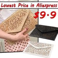 VEEVAN WFCCL01407 Free Shipping 2014 Hot Sale Women's Cutout Envelope Clutch Bag Shoulder Cross-body Bag Desigual Messenger Bag
