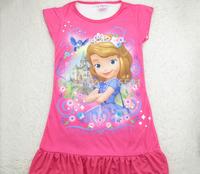 4pcs/lot cartoons 3D  sofia the first pattern Girls Lingerie for Children