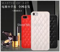 DHL free shipping  forwarding Diamond shape Pattern Plating Skinning Plastic Case for iphone 4G 5G  20pcs/lot