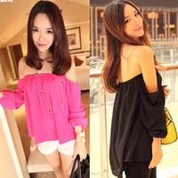 2014 Hot sale fashion women chiffon blouse