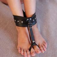 Black PVC Toes Cuffs Ankle Restraint Extremerestraints