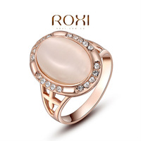 ROXI exquisite rose-golden plated elliptical pearl rings,fashion jewelrys,factory price,Chirstmas gifts,high quality 2010221350