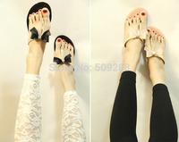 2014 summer new style women bowknot sandals flip flops sandal shoes Jelly Shoes