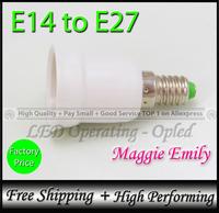 10pcs 8.67USD per lot free shipping - e14 to e27 adapter holder converter for E27 led lamp bulb light