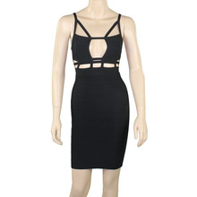 cheap black cut out dress