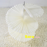 NEW 148pcs/set Ivory White Plastic False Nail Art Tips Stick Display Practice Fan Board&Nail Art Display Natural Color T148