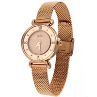 NEW Authentic Korea Fashion Julius Quartz Wrist Watch, Women's OL Lady Watch, Stainless steel bracelet decoration Round JA-728