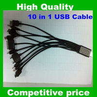 Free shipping 10 in 1 Mini USB Micro cable charger plug for mobile phone
