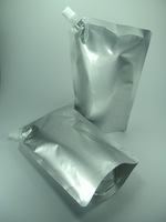 Free shipping,500 ml aluminum foil stand up spout bags for oil,wine,oil,juice,tomato sauce