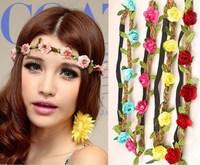 1PC Hot Sale New Fashion 6 Colors Womens Bohemia Beach Flower Hairbands Hair Accessory Drop Shipping Headwear CX870346