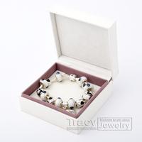Promotion HOT SALE personalised silver pan beaded Bracelet for women bead Bracelet patterns bijoux jewelry PA1174