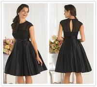 Free Shipping ! New Arrival 2014  Black Cocktail Dresses Short Dress Knee Length Dress Women Elegant Sexy OC3099