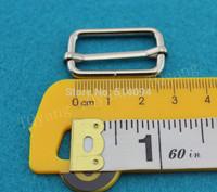 2.5cm Ribbon slip buckle suspenders adjustment buckle Webbing Slider Tri Glide sewing materials 50pc /lot