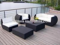 2014 New Design PE Rattan Outdoor Modern Garden Sofa Set 5pcs