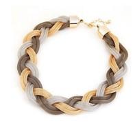 3 colors 2014 new fashion Bohemian style Punk Fashion Simple Metal braid Twist Chain necklaces & pendants woman's Necklace! 1760