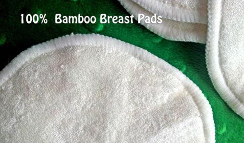 100 шт ( 50 пар ) бамбук многоразовые грудь колодки уход водонепроницаемый органический без орнамента стирающийся площадку