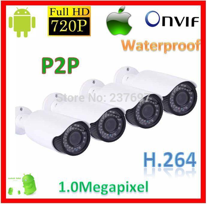 Cheap Outdoor Digital Camera 1.0Megapixel 720P Security Camera System CCTV Infrared Night Vision Illuminator Network WebCamera(China (Mainland))