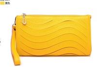 Canvas Bag 2014 New Pillow Special Offer Freeshipping Solid Pu Zipper Women Messenger Bags Moire Clutch Bag2014 Women's