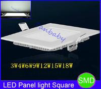 Square led panel light ulter thin 3W/4W/6W/9W/12W/15W/18W/25W  led ceiling lamp white or warm white luminaria home bulb