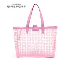 Free Shipping! 2014 new arrival brand pink beach bag high quality fashion women handbag