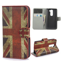10pcs/Lot  FLOWER FLIP LEATHER WALLET CASE WITH CARD HOLDER FOR LG G2 MINI D620