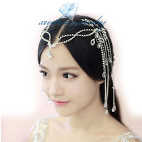 Romantic retro rhinestone tassels hairwear hairbands bridal wedding hair jewelry GIFT BOX