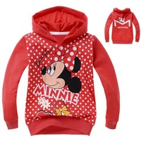 2014 Children's clothing kids spring and autumn girls sportswear cartoon dot Sport suit coat children hoody E76