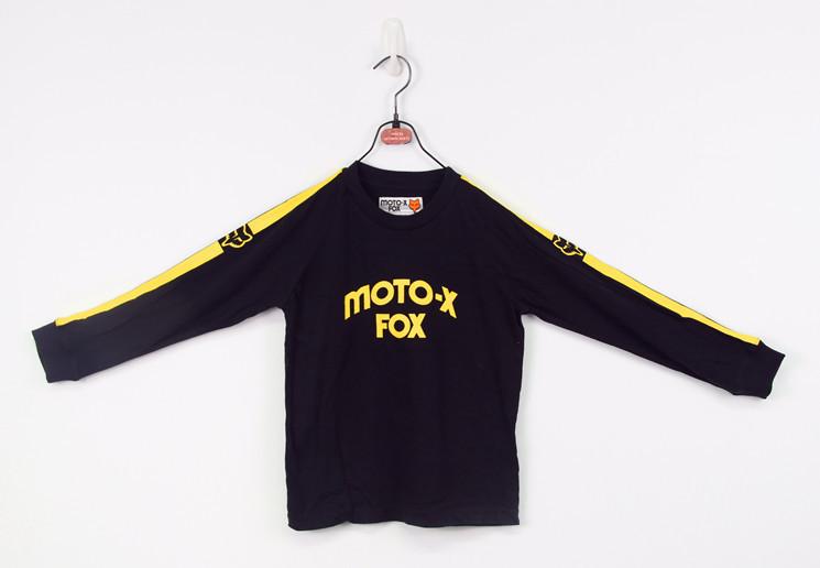 "Free Shipping ! Hot Brand Boy's Raglan Long Sleeve Jersey T shirt with ""Moto X"" print , Factory stock clearance(China (Mainland))"