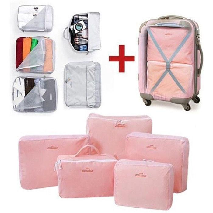 Waterproof 5pcs/set Traveling Packing Cubes Clothes Organizer Storage Bag In Bag(China (Mainland))