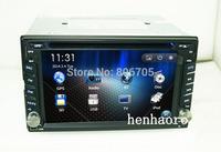 "car dvd gps player navigation 6.2"" in dash 2 din headunit Universal touch screen bluetooth subwoof support camera input"