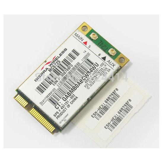 for HP Verizon USB 2.0 MC5725 3G wWAN Minicard 443251-001(China (Mainland))