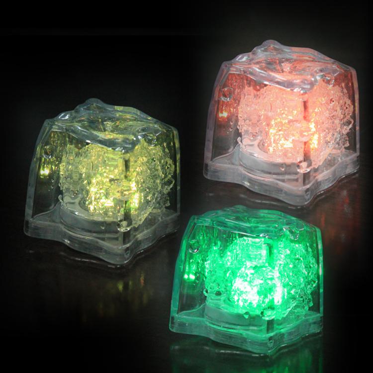 New luminous ice Christmas square colorful flash ice lamp LED Night Light Festival supplies Party or wedding LED Toys(China (Mainland))