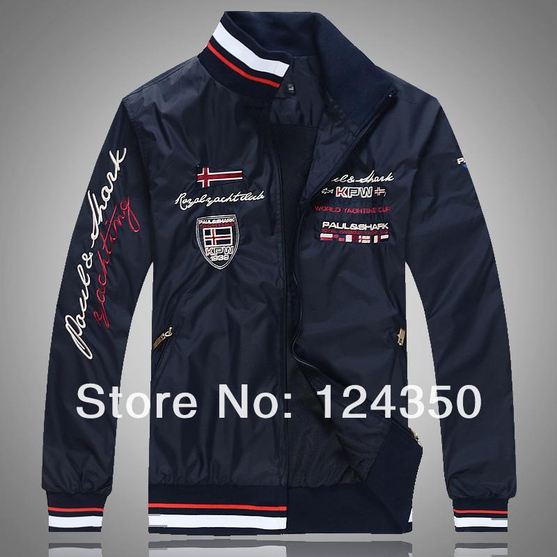 2014 jacket mens clothing spring summer Fashion jacket New pattern Special offer top grade jacket Black Blue White(China (Mainland))