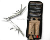 multi-purpose stainless steel household tool plier kit w/file rasper saw plier scissor dividing ruler wine opener free shiping